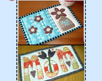 Mother's Day Pattern Pack - Two Mug Rug Patterns from the Patchsmith