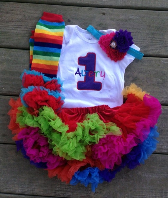 Items Similar To Rainbow Bright Birthday Outfit