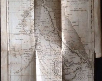 "1827 ""The Modern Traveller"", Rare Antique Book with Maps and Engravings of Egypt and the Middle East"