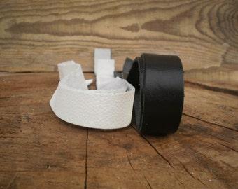 Pair leather straps, Black & white, Handbag Strap, Purse straps, Purse handles, Genuine Leather, Bag Straps, Craft supplies, leather straps