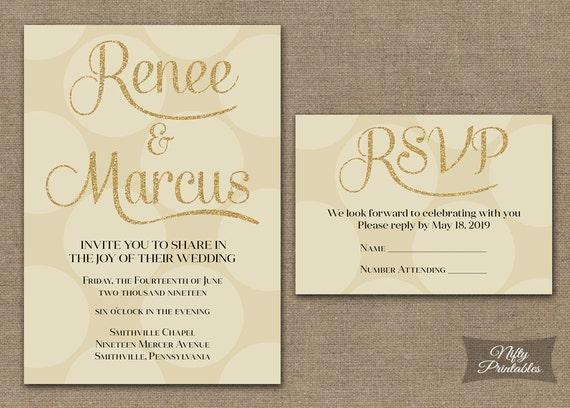 Cream And Gold Wedding Invitations: Cream Wedding Invitations Ivory Gold Wedding By