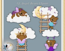 Angel, Teddy Bears, Baby, Commercial Use, Digital Scrapbook, Clipart