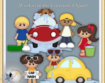 Work at the Carwash Clipart