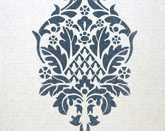 Reusable Damask Wall Stencils San Felice for Allover Wall DIY decor