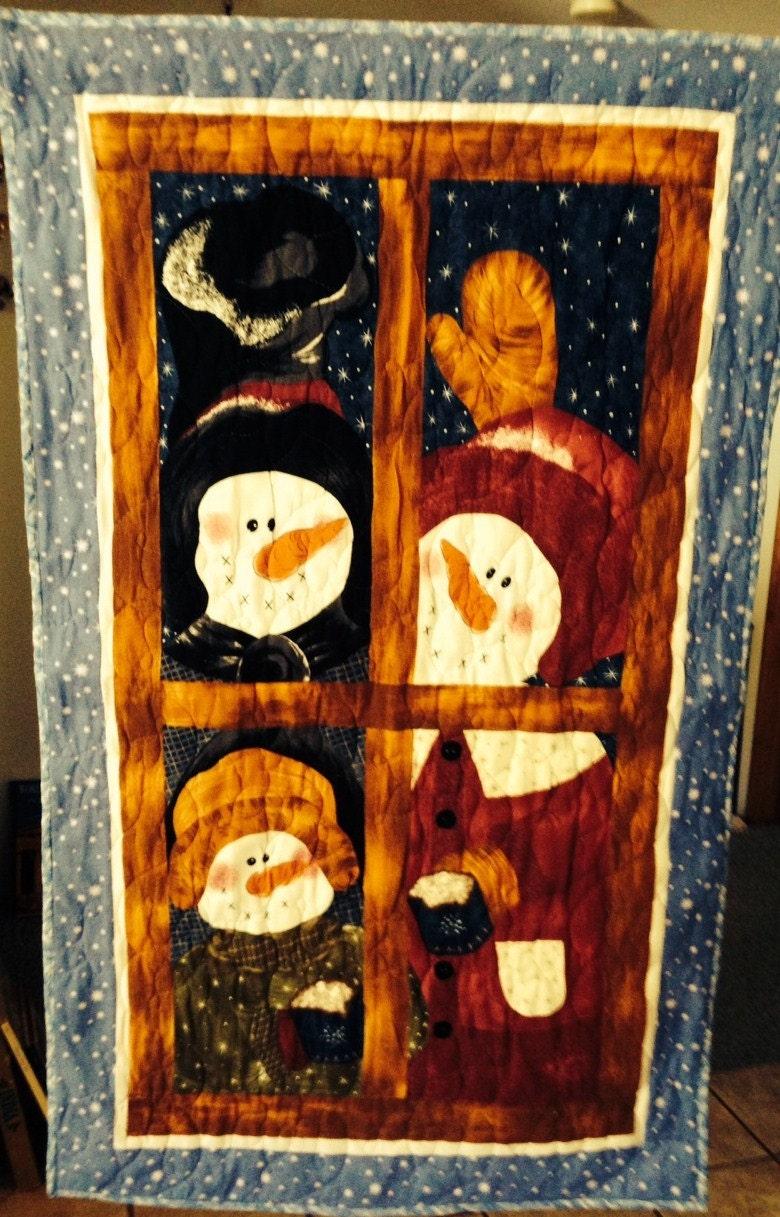 Quilted Snowman Wall Hanging Door Hanger Table By Quiltediris