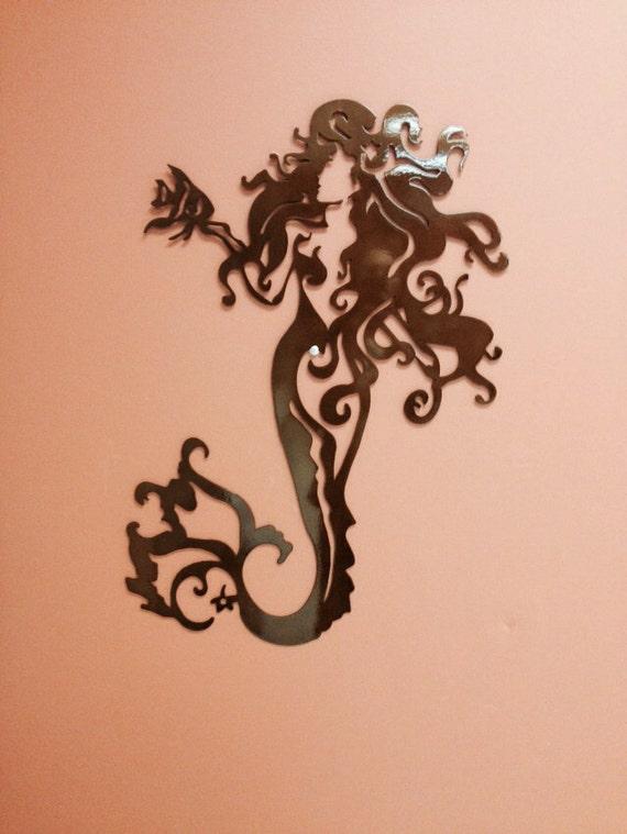 Nautical Marine Mermaid Metal Wall Art 30 By Alkemymetal
