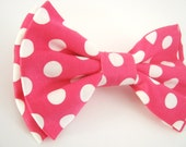 Dog Bow Tie   Polka Dot Bow dog collar bow tie wedding dog bow tie