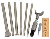 Craftool Basic 7 Tool Set - Leather Crafting Supplies - Steampunk LARP Cosplay Renaissance