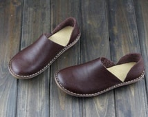 Handmade Shoes,Oxford Women Shoes, Flat Shoes, Retro Leather Shoes, Casual Shoes, Spring/Autumn Shoes