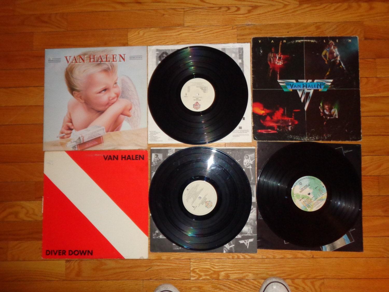Lot 3 Van Halen Lp S 1984 Diver Down Amp 1st Self By Simplemiles