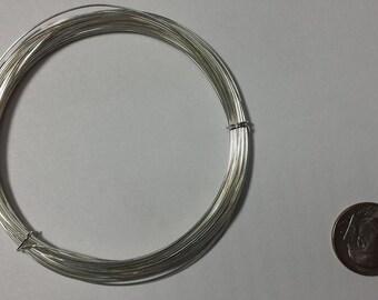 Sterling Silver Wire, 24 Gauge, Half Hard or Soft, Round, 5 Feet