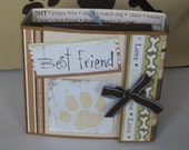 Best Friend Dog Scrapbook Album, Puppy Scrapbook Mini Album, Dog Mini Album