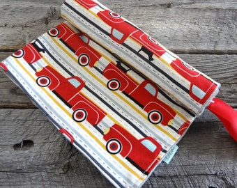 """Baby Boy Security Minky Blanket- Pooches and Pickups 18""""x18"""""""