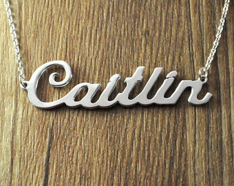 Personalized 925 Silver Name Necklace