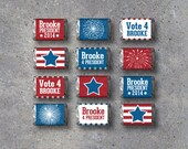Election Campaign Mini Candy Bar Wrappers – Printable Wrappers Personalized with your name – Election Campaign Party – Party Favors – Vote