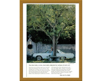"1965 Buick LeSabre Car Color Print AD / Buck builds a high-priced car and puts a low price on it / 6"" x 9"" / Buy 2 ads Get 1 FREE"