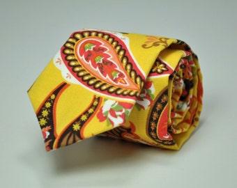 Boy's Necktie - Autumn Paisley - Cotton