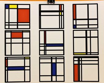 "Math Art Digital Print - ""mondRian"""