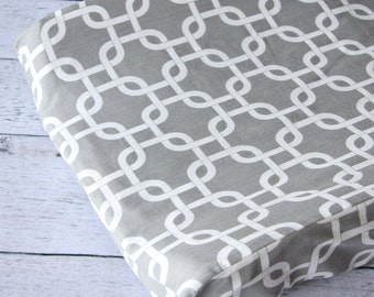 25% off SALE- Bright Baby Gray Changing Pad Cover