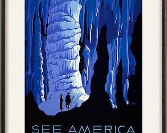 National park print travel print travel art print Wall poster art old prints home decor wall mountains print retro art travel wall art 12x16