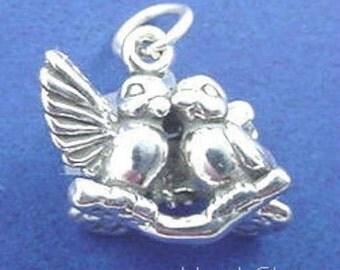 LOVE BIRDS Charm .925 Sterling Silver