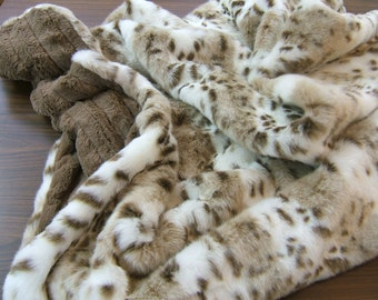 Faux Fur Throw, Sensual Erotic, Luxurious Faux Fur, Ultra Plush, Soft Cuddly Blanket, Pillow Available Separately, Faux Fur on both sides