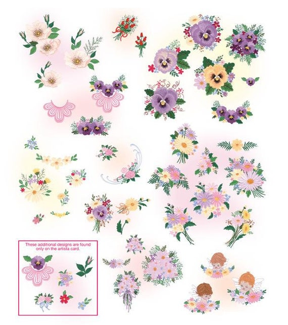Elsa's Florals Embroidery Designs - PES INSTANT DOWNLOAD- what you see is what you get