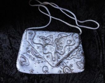 Vintage Beaded Evening Bag with original dinner ticket 1987