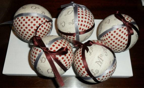 Christmas balls to hang the tree shabby chic style No. 05/Handmade Christmas bauble shabby chic style No. 05