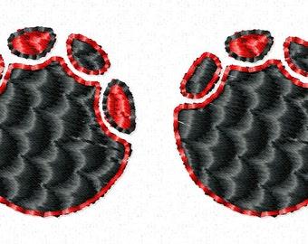 Mini elephant paw print Alabama embroidery design download 4x4 hoop size