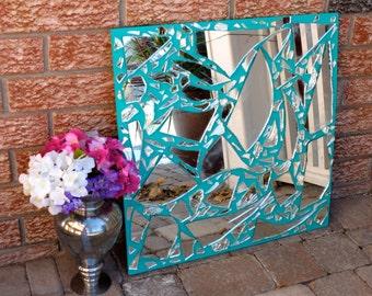 SALE! Broken Mirror Home Decoration Decor Centrepiece Centerpiece Unique