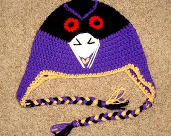 Crochet Baltimore Ravens Hat