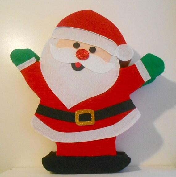Items similar to christmas pinata santa claus christmas for Decoration pinata