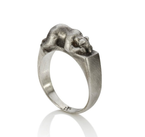 Bear In Hing Reng 2: Bear Ring By UntamedJewels On Etsy