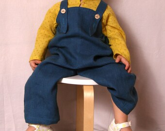 Linen overalls. 62/3-6m - 128/7.Many colors.white, baptism, wedding,baby, girl, boy, baby shower, summer  dungarees,romper