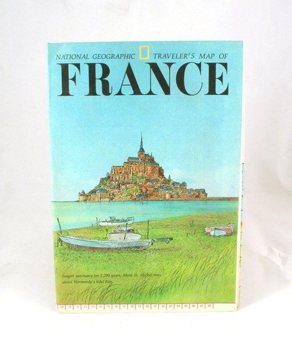 National Geographic Traveler S Map Of France