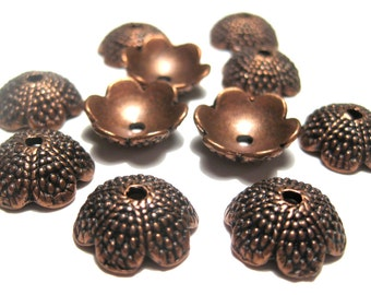 10pcs Antique Copper Acorn Tops Bead caps