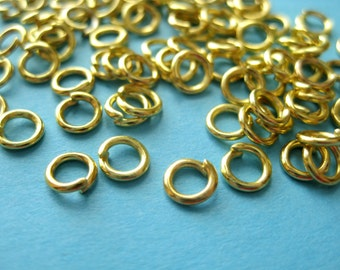 Gold Plated  Open Jump Rings 5mm 18ga( No.977)