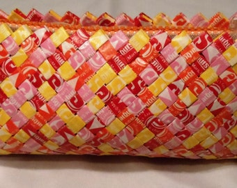 Starburst Candy Wrapper Clutch