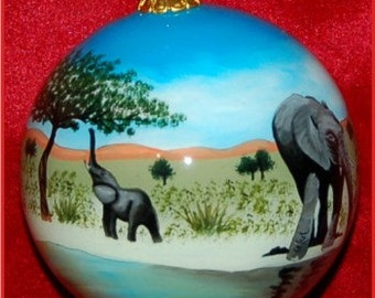 Elephant Christmas Ornament GOR116