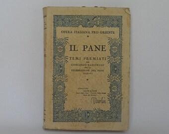 antique italian book il pane period of Fascism
