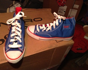 Vintage keds deadstock canvas sneakers shoes women's 6.  Women's  7 new old hi top basketball 1970's