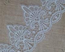"Off White Venice Lace 4""  White Lace Trim  Venice Lace Trim  Bridal Lace  wedding lace trim EW72702 by the yard"