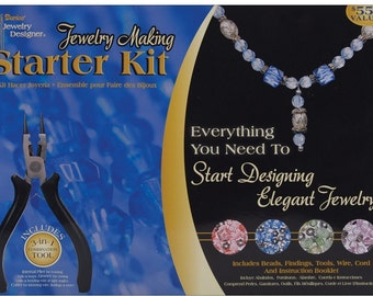 Boxed Jewelry Making Starter Kit, Everything You Need To Start Designing Elegant Jewelry, Create Beautiful Hand Crafted Jewelry Starter Kit