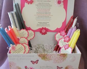 Candle Poem Gift Set . Bridal candle basket. Sentimental wedding gift ...