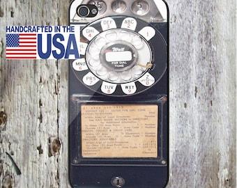 Black Vintage Pay phone PayPersonalized Phone Case iPhone 6/6S, iPhone 5/5S, iPhone SE, Samsung iPhone7 iPhone 7