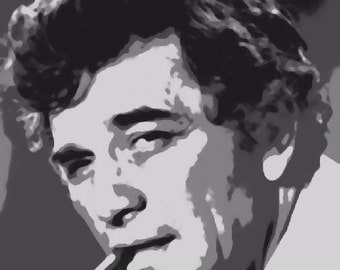 Stunning  Columbo / Peter Falk Pop Art Painting Paint By Number Kit