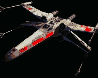 Star Wars X Wing Fighter Pop Art Paint By Number Kit