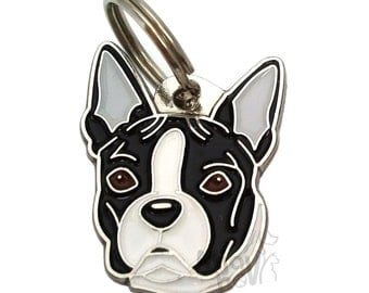Pet ID tag (dog ID tag ) Boston terrier