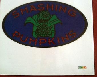 "Smashing Pumpkin 5 5/8""x5 7/8"" Sticker Decal new old stock"